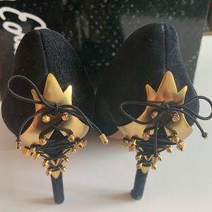 Sam Edelman Black Lace Up Heel Sz 8